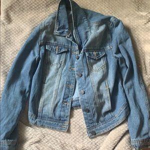 Denim jean button up jacket